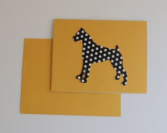 Handmade BOXER Dog Note Cards Free Domestic Shipping