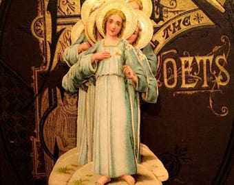 SALE 1pc VICTORIAN RELIGIOUS Scrap Antique 1880s Style C