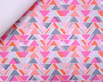 Pastel Geo fabric felt  :  All Angels on White