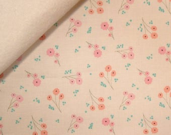 Ava Rose fabric felt  :  Small Cream Posy on Natural