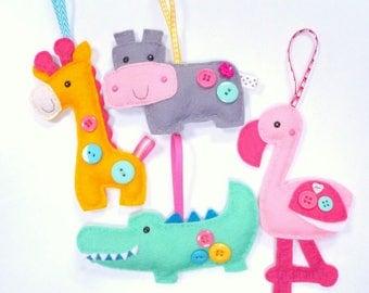 Safari Animals - Large Kit - Felt sewing kit