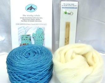 Thrummed Mitten Knitting Kit 100% Kettle Dyed Wool