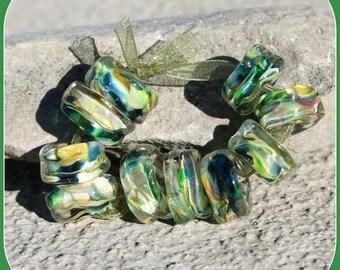 Greenfield lampwork bead set