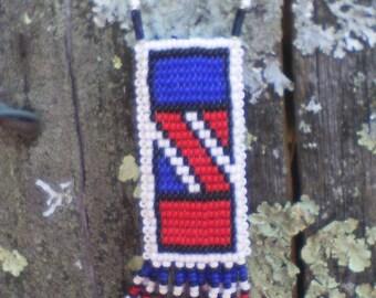 ON SALE MTO 2 Rivers Seed Bead Medicine Bag,Mto 2 Rivers Seed Bead Amulet Bag,2 Rivers Amulet Bag,2 Rivers Medicine Bag