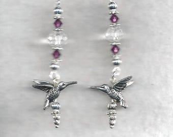ON SALE Hummingbird Earrings