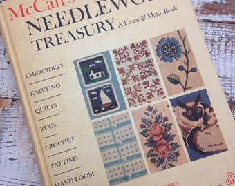 CRAZY SALE- Vintage Needlework Treasury-McCalls-Random House Book-Learn and Make-1964