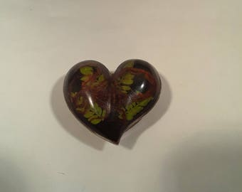 Alpaca Silver and Scorpion in Lid Heart Shaped Trinket Box