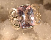 Frost - Lilac Topaz ring - reserved for Eileen