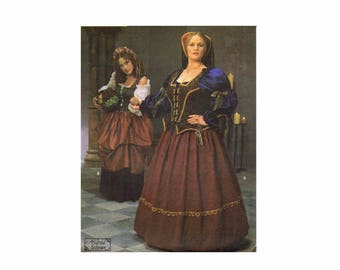 Simplicity 8249 Medieval Renaissance Gown Historical Dress Costume Sewing Pattern Size 18 - 20 - 22 - 24 UNCUT
