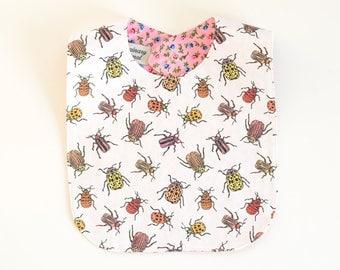 Pretty Beetles Original Fabric Bib | Organic Cotton / Vintage Calico
