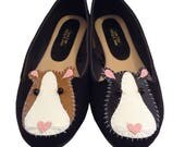 Guinea Pig Customised Ballet Shoes