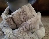 Snow Bunny Faux Fur Minky Infinity Scarf