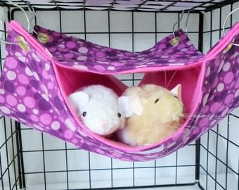 Rat Hammock,large 2 level hammock,Double Decker,Rat Accessory,Pet Accessory,Pet Hammock,Pet Cage Bedding,Small Animal Hammock,Bunk Bed