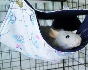 Rat Hammock, Double Decker Hammock, BitsOHeaven Hammock, 2 level hammock Rat Bed,Bunk Bed Rodents Hammock,Small pet hammock, rat hammock A