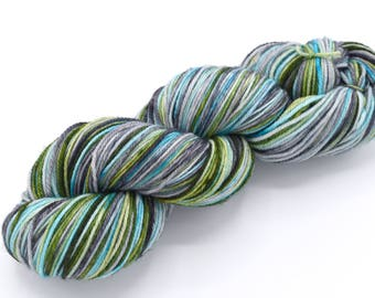 Thunderboom Watercolor Stripes - Self-Striping Targhee Sock Yarn Made to Order