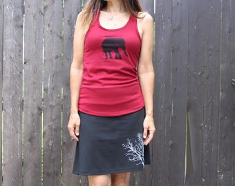 Elephant Tank Top Scarlet Red XS,S,M,L,XL