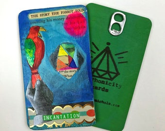Incantation - Hand Painted Wooden Oracle Card