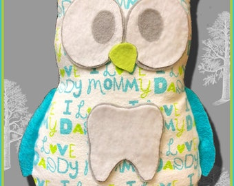 Cute Owl SVG Tooth Fairy Pillow Cut File, Felt n Flannel, Cuts Pattern Shapes, T Shirts, Vinyl, HTV, Cricut, Cricut Maker, Silhouette, Kids