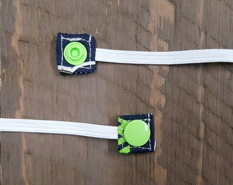 Organic Cotton Replacement Snap-On Elastic for Nebulizer Head Straps (Seattle Seahawks)