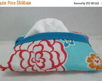 Flash Sale Pocket Quilted Tissue Case Hawaiian Floral Tissue Holder Tropical Flowers
