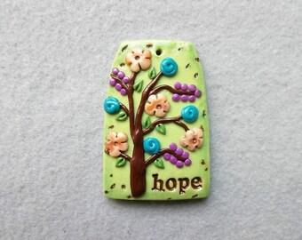 Happiness Tree/Healing Tree/Tree of Life Pendant - Hope
