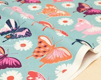 Cotton + Steel Flutter - butterflies - aqua - 50cm