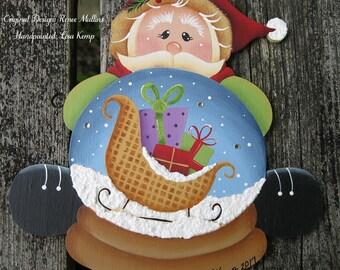 Santa Snowglobe Ornament