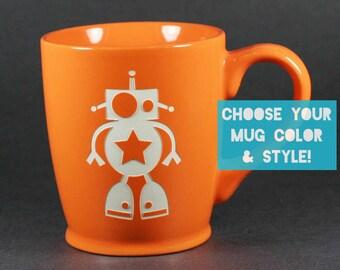 Robot Mug - Choose Your Cup Color