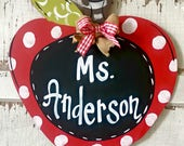 Door Hanger, Door Art, Chalkboard, Apple Sign, Teacher Sign, Door Decor, Door Decor, Teacher Gift, Back to School
