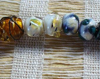 Lampwork Glass Beads  Handmade by Catalinaglass SRA Earring Pairs