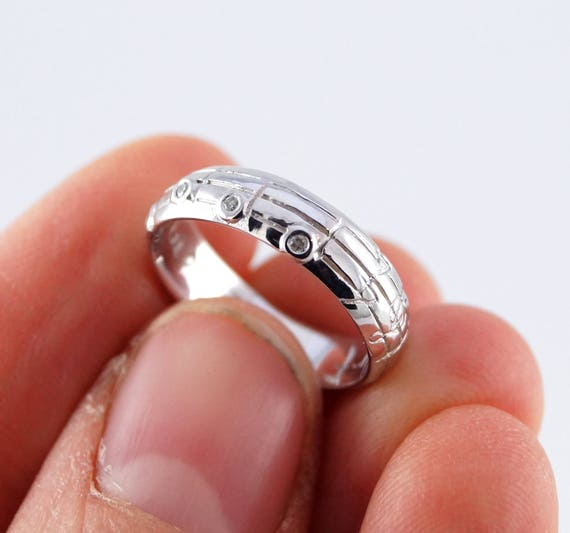 Your Song Diamond Wedding Ring Custom Notes to Your