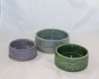 Ceramic Pet Bowl - Personalized