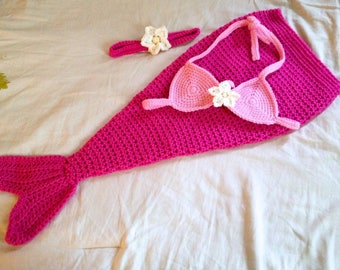 RESERVED for audreylynn105 - Baby Mermaid Costume - Baby Mermaid Outfit - Baby Mermaid Photo Prop - 3-6 Months - Made to Order