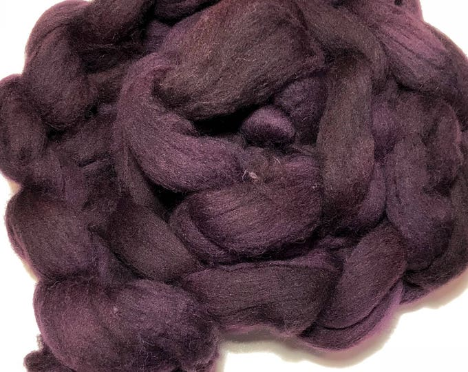 Kettle Dyed Cheviot Wool top. Roving.  Spin. Felt. Soft and easy to work with. Cocoa Bean.