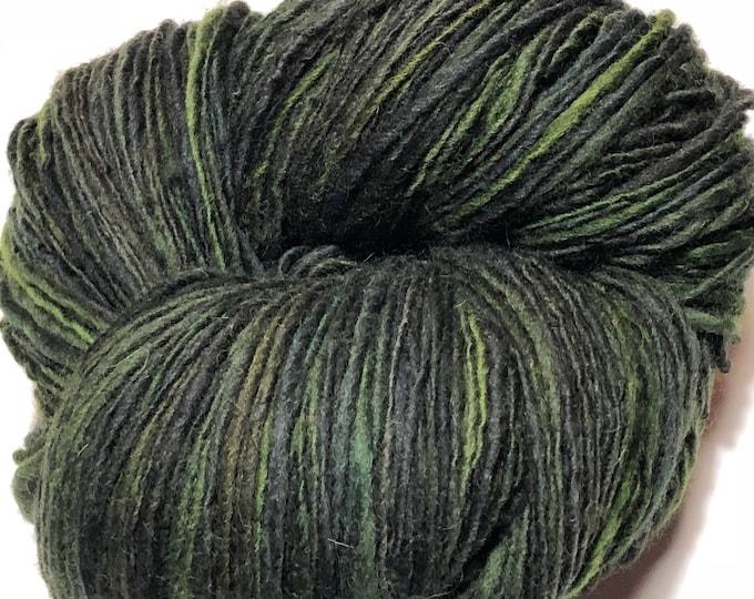 Handspun wool yarn. Single ply. Worsted. 1/2lb Skein. 384 yards. Knit. Crochet. Felt.