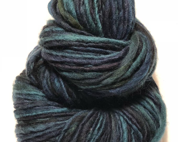 Handspun wool yarn. Single ply. Bulky. 1/2lb Skein. 188 yards. Knit. Crochet. Felt.