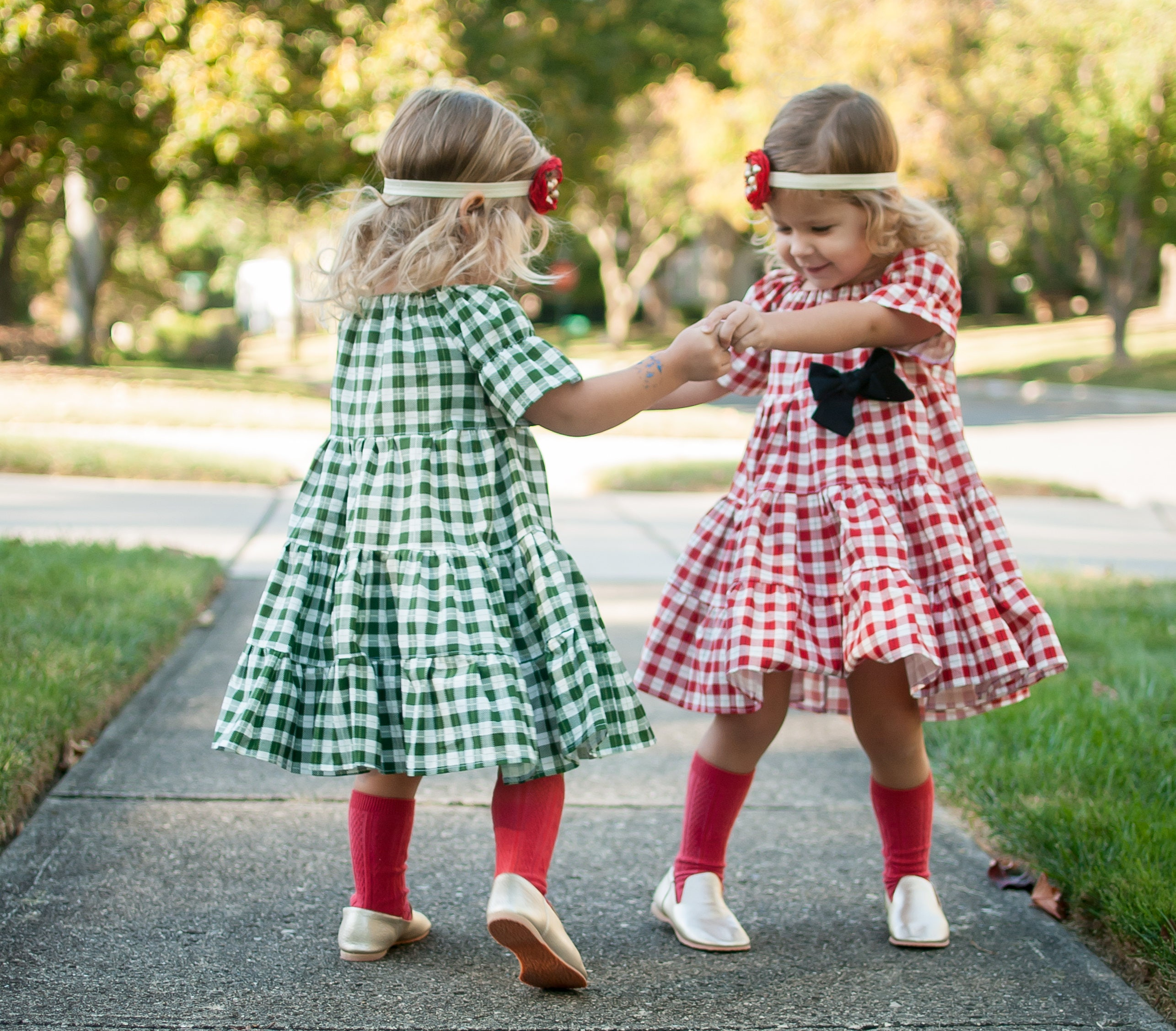 Girls Holiday Dress Girls Christmas Dress Buffalo Plaid Dress