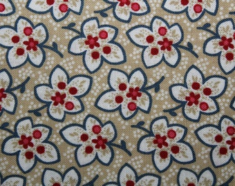 Cotton Fabric, Quilting Fabric, Quilt Fabric, Floral Fabric, Fabric By the Yard, Fabric, Sewing Fabric, Cotton, Red Rooster Fabric