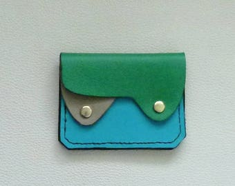 Small Leather Wallet, Coin Purse, Card Case,  Flat Leather Wallet, Minimalist Leather Wallet