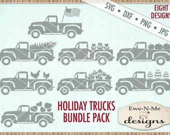 Old Truck svg bundle - truck svg - Holiday Truck svg bundle - seasonal truck svg - Truck svg all seasons - Commercial use svg dxf png jpg