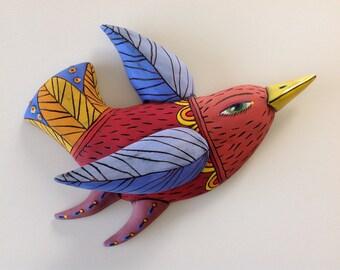 Red Bird with Yelow Beak