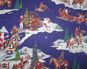 """1 Yard Alexander Henry's  """"A Cowboy's Christmas""""  OOP"""