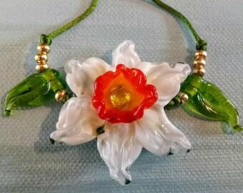 Glass Daffodil Lampwork Bead Set