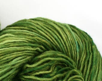 Valkill Hand Dyed DK weight NYS Wool 252 yds 4oz Leaf