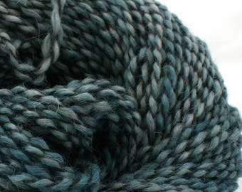 Middlefield Hand Dyed aran weight wool alpaca blend 200 yds 4oz Wet Bluestone
