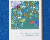 "FAIRY GODMOTHER ""it's possible"" {your own personal fairy godmother} blank greeting card fairy godmother stationary faerie tale feet princess"
