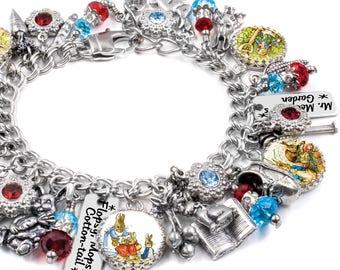 Peter Rabbit, Beatrix Potter, Peter Rabbit Jewelry, Beatrix Potter Art, Peter Rabbit Charm Bracelet
