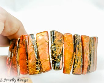 Shell and Copper Bracelet