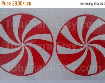 SUMMER SALE 20% OFF Diy Christmas Peppermint Shirt, Holiday Candy Top, Peppermint Candy Swirls, Heat Transfer Vinyl Iron-On Appliques for Wo