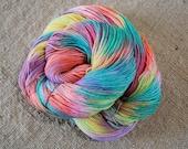 "Wonder Sock yarn - ""Skittles"" - superwash Blueface wool and nylon 465 yards 3.5 ounces"